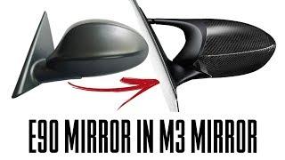 E90 E9x Mirror mod in M3 Mirror  (cheap mod)