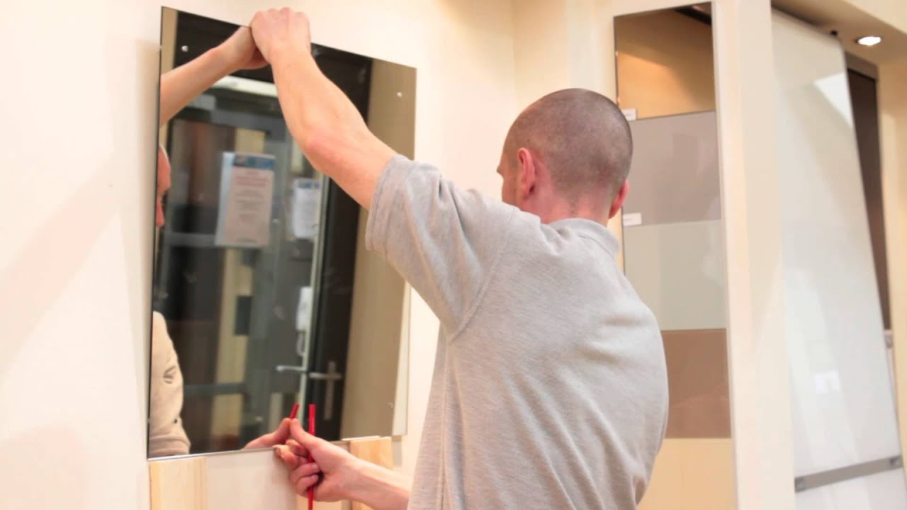 Mirror installation video youtube for Putting a tv in the bathroom