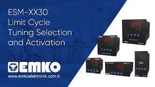 Emko Elektronik ESM-XX30 Limit Cycle Tuning Selection and Activation