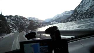 on my way to roadtrip From Hamar to Bergen in NORWAY.