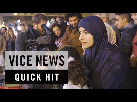 Vigil at Place de la Bourse in Brussels: VICE News Quick Hit