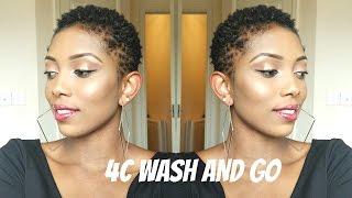 Natural Hair 4C/TWA Wash and Go Routine