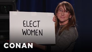 Dana In Cue Cards Responds To The Joe Biden Controversy - CONAN on TBS