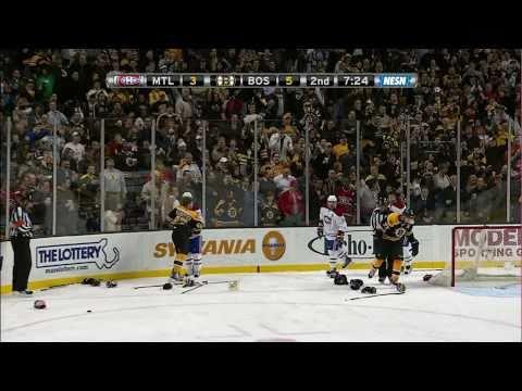 Bruins-Habs brawls, goalie fight uncut 1080p NESN HD 2/9/11