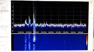 RTL SDR R820T 10 meter SSB receiving
