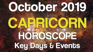 Capricorn October 2019 Horoscope