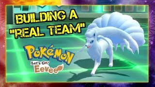"""Pokemon Lets Go Pikachu and Eevee Wifi Battle - Building a """"Real Team"""""""