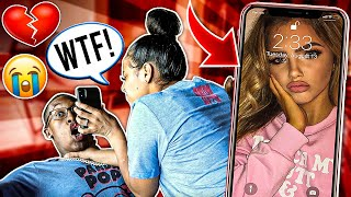 ANOTHER GIRL AS MY LOCK SCREEN PRANK ON CARMEN!! (Bad Idea)