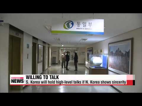 S. Korea says it′s willing to hold high-level talks if N. Korea shows sincerity