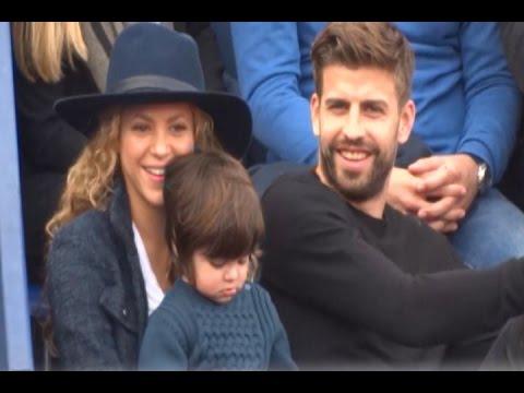 Milan, Shakira y Piqué, divertida tarde de tenis