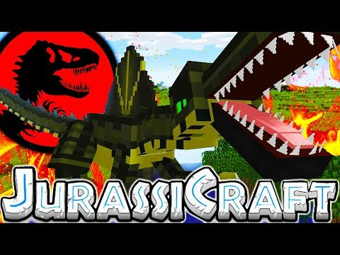 THE BIGGEST DINO BASE FOR A SPINOSAURUS! - MODDED MINECRAFT DINOS JURASSIC PARK #9