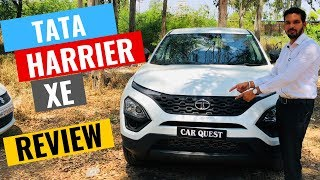 2019 Tata Harrier XE variant full detailed review | interior & Exterior | Specification | CarQuest