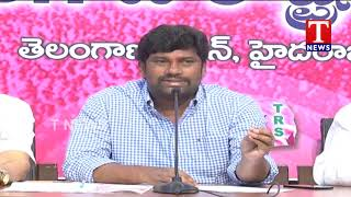 TRS MP Balka Suman Press Meet over TRS Manifesto | Slams congress  Telugu