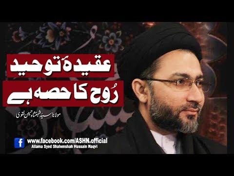 Aqeeda e Toheed Rooh ka Hissa Hen by Allama Syed Shahenshah Hussain Naqvi