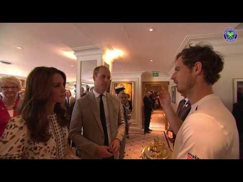 Andy Murray catches up with the Duke and Duchess of Cambridge