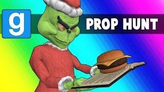 Gmod Prop Hunt Funny Moments - Hamburgers Vs. The Santa Claus (Garry's Mod)