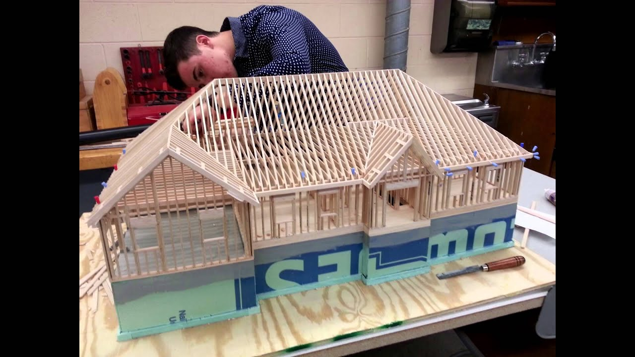 Building the 1 24 scale architectural model youtube for Best material to build a house