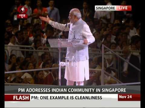 PM Modi in Singapore: Address to Indian Diaspora