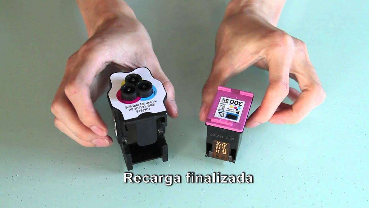IMAX Kit de Recarga cartuchos HP color - YouTube