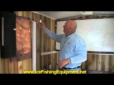 Ice fishing house heater fan systerm youtube for Fish house heaters