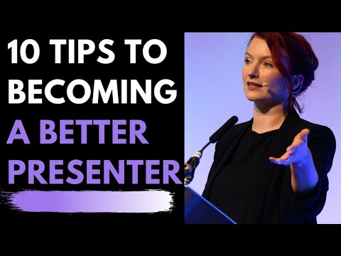 Presenting & Public Speaking Tips - How to improve skills & confidence