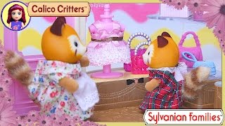 Sylvanian Families Calico Critters Boutique Red Panda Family Unboxing Review Silly Play - Kids Toys