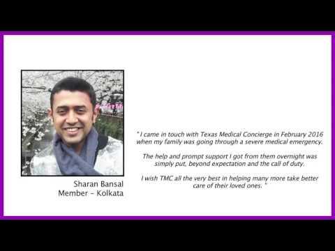 Texas Medical Concierge member testimonial for Medical Travel program