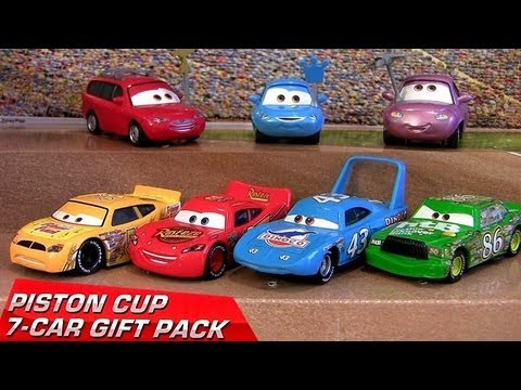 Cars 2 Piston Cup 7-Cars Pack Diecast Target Lightning McQueen 2013 The King Disney Pixar toys