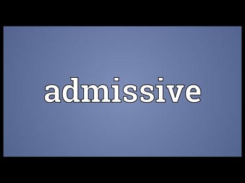 Header of admissive