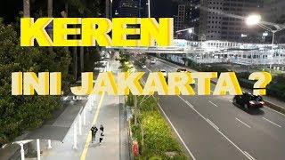 Walking Tour Jalan Kaki di Trotoar dan JPO Dukuh Atas Jalan Sudirman, Kerennya Jakarta di Malam Hari
