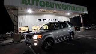 Here's a 266K Mile Toyota Sequoia Limited ( 16 Years Old ) Night Review - Now $3995