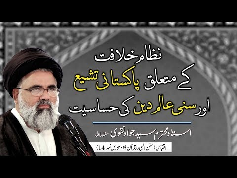 Nizam e Khilafat ke Mutaliq Pakistani Tashayyu aur Sunni Aalim ki Hasasiat | Ustad Syed Jawad Naqvi