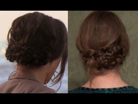 In a Pinch Braided Updo - Cute Hair for Lazy Days!
