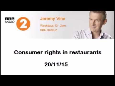 How to complain in restaurants discussed on Jeremy Vine on Radio 2