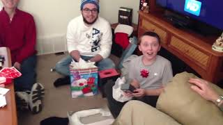 My 11 Year Old Son Opens an iPhone 5!!  BEST Christmas SURPRISE!!