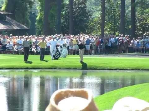 Martin Kaymer Skipping Ball Over Water Aces 16th at Augusta National 4/2/2012