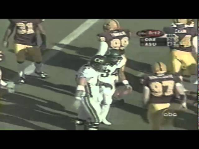 Oregon RB Allan Amundson 11 yard run vs. ASU 10-28-2000