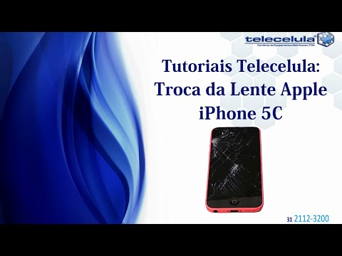 Como Trocar Lente Visor Vidro Apple iPhone 5C 5S 5 TELECELULA