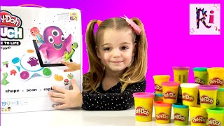 Little girl play with Play Doh Touch Studio Educational Video for Kids