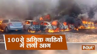 Bangalore Air Show: Many cars gutted in fire at parking near venue of Aero India 2019 in  Bengaluru