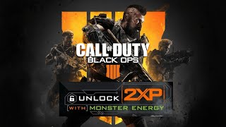 Double XP Monster Energy Drink Promotion Call of Duty Black Ops 4