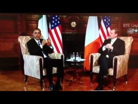 US President Barack Obama and Taoiseach Enda Kenny of Ireland