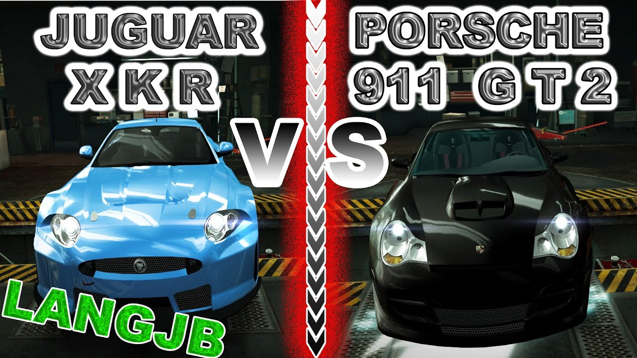 nfs world jaguar xkr vs porsche 911 gt2 996 langjb youtube. Black Bedroom Furniture Sets. Home Design Ideas