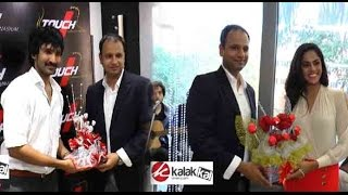 Aadhi and Karthika Nair at The launch of Touch Makeover Studio