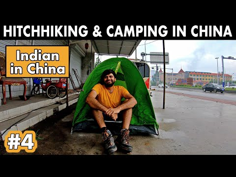HITCHHIKING & CAMPING ROAD IN CHINA - No Place to Sleep!!!!