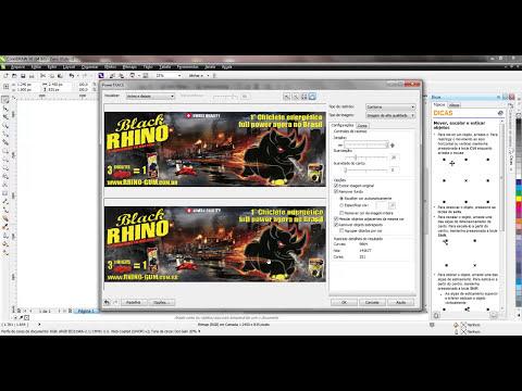 CORELDRAW X6 - Vetorizando Imagem PNG e JPG E Salvando em Formato CDR