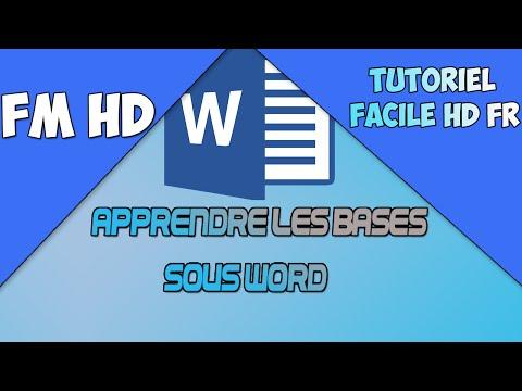 Formation Word #01 Apprendre Les Bases (Débutant)
