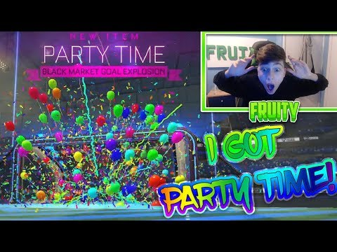 PARTY TIME IN A CRATE | I GOT PARTY TIME | Rocket League