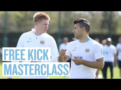 FREE KICK MASTERCLASS! With De Bruyne, Silva and Yaya Toure