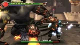 Orochi Hellbeast vs Shang Tsung *Bosses Fixed Codes* (Ps2 Mortal Kombat: Shaolin Monks)